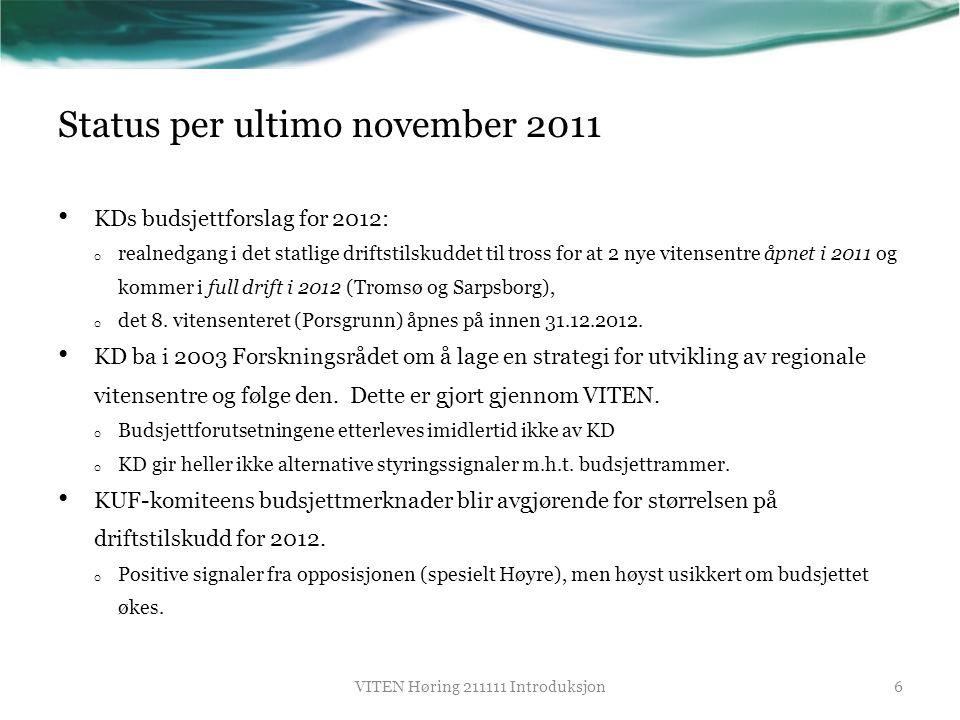 Status per ultimo november 2011