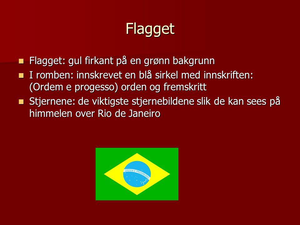 Flagget Flagget: gul firkant på en grønn bakgrunn