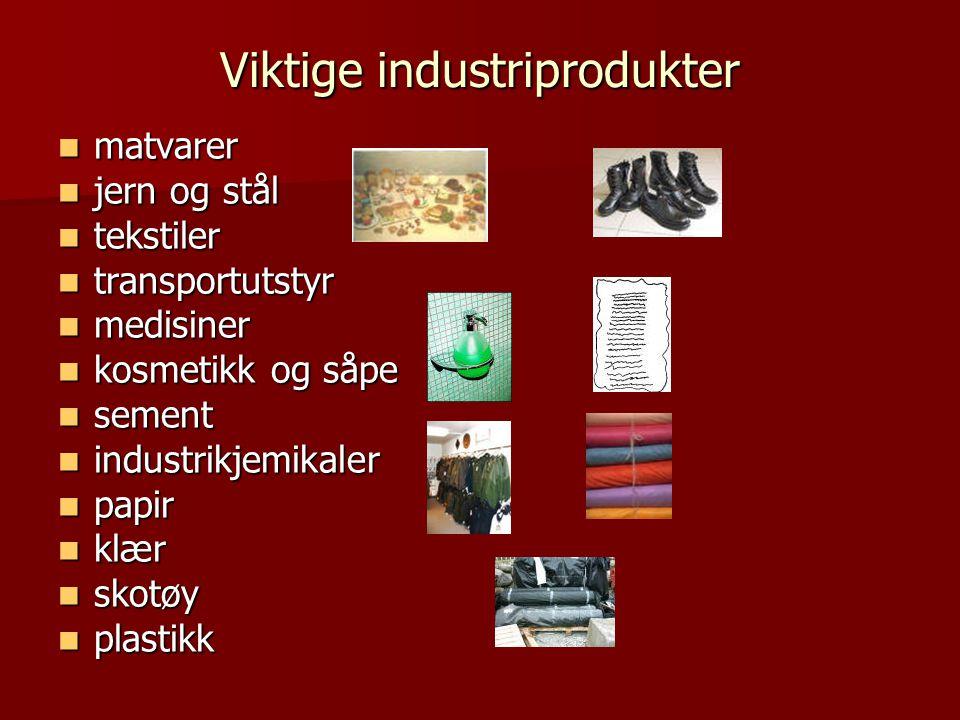 Viktige industriprodukter