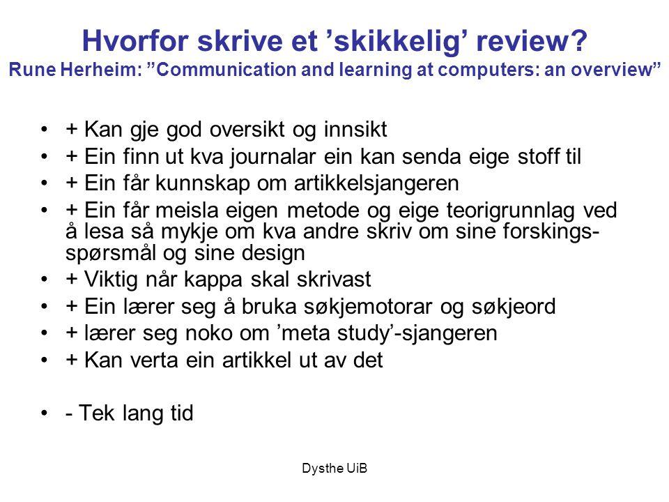 Hvorfor skrive et 'skikkelig' review