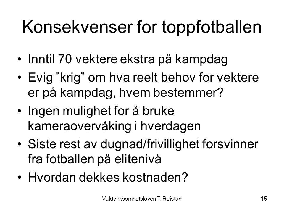 Konsekvenser for toppfotballen