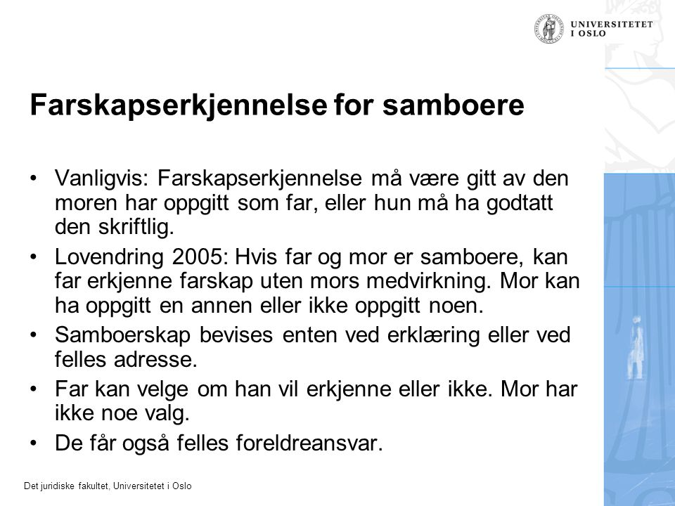 Farskapserkjennelse for samboere