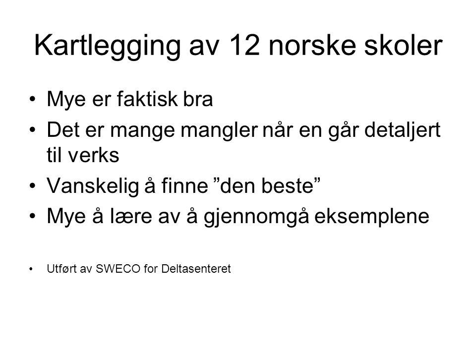 Kartlegging av 12 norske skoler