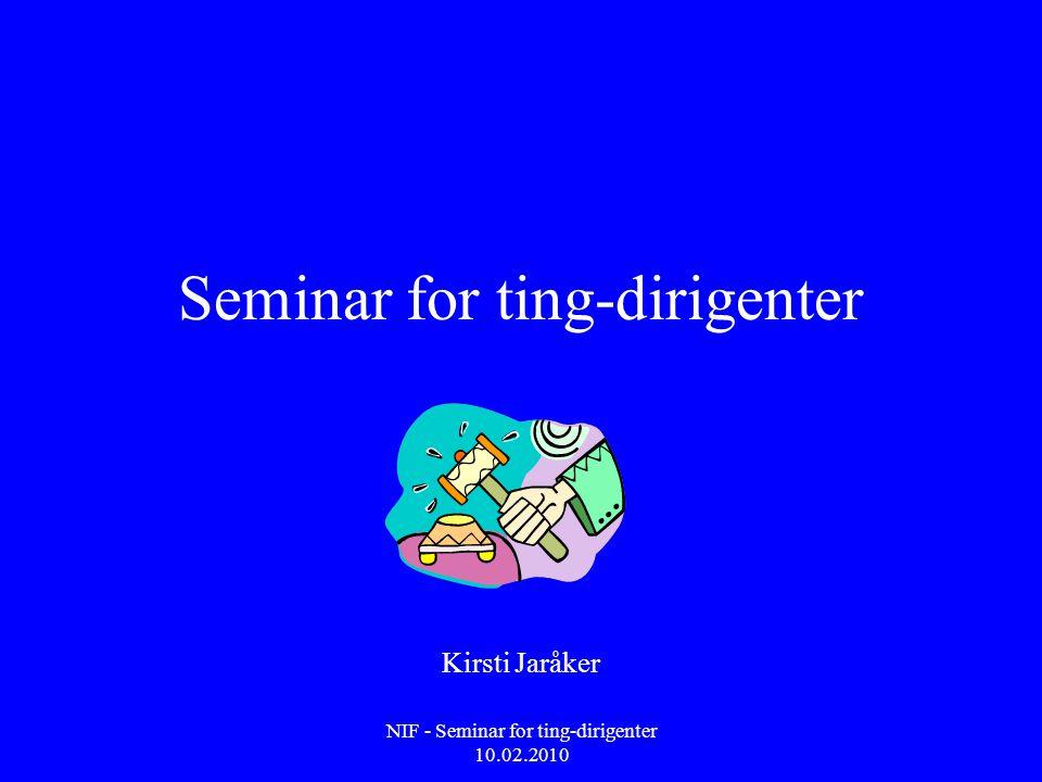 Seminar for ting-dirigenter