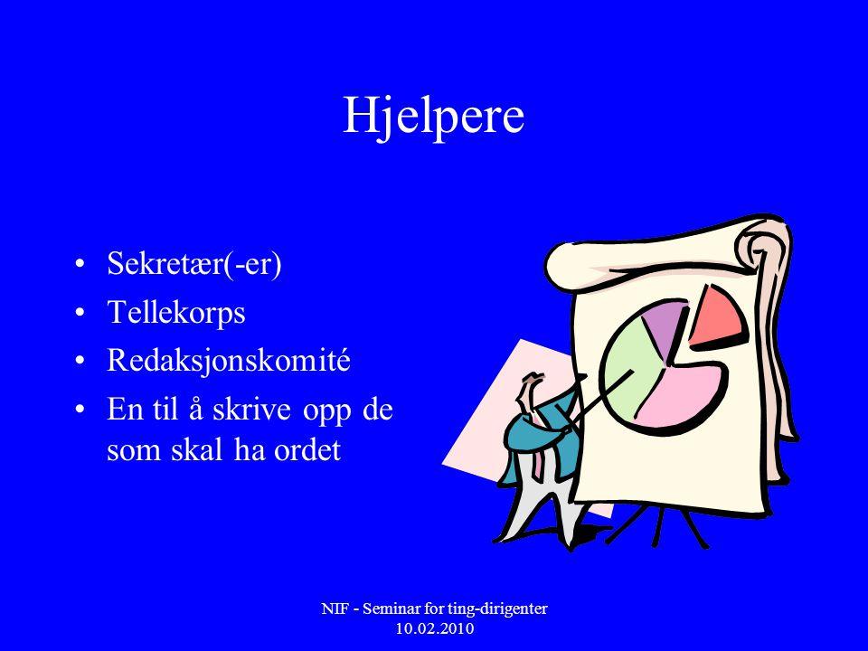 NIF - Seminar for ting-dirigenter 10.02.2010