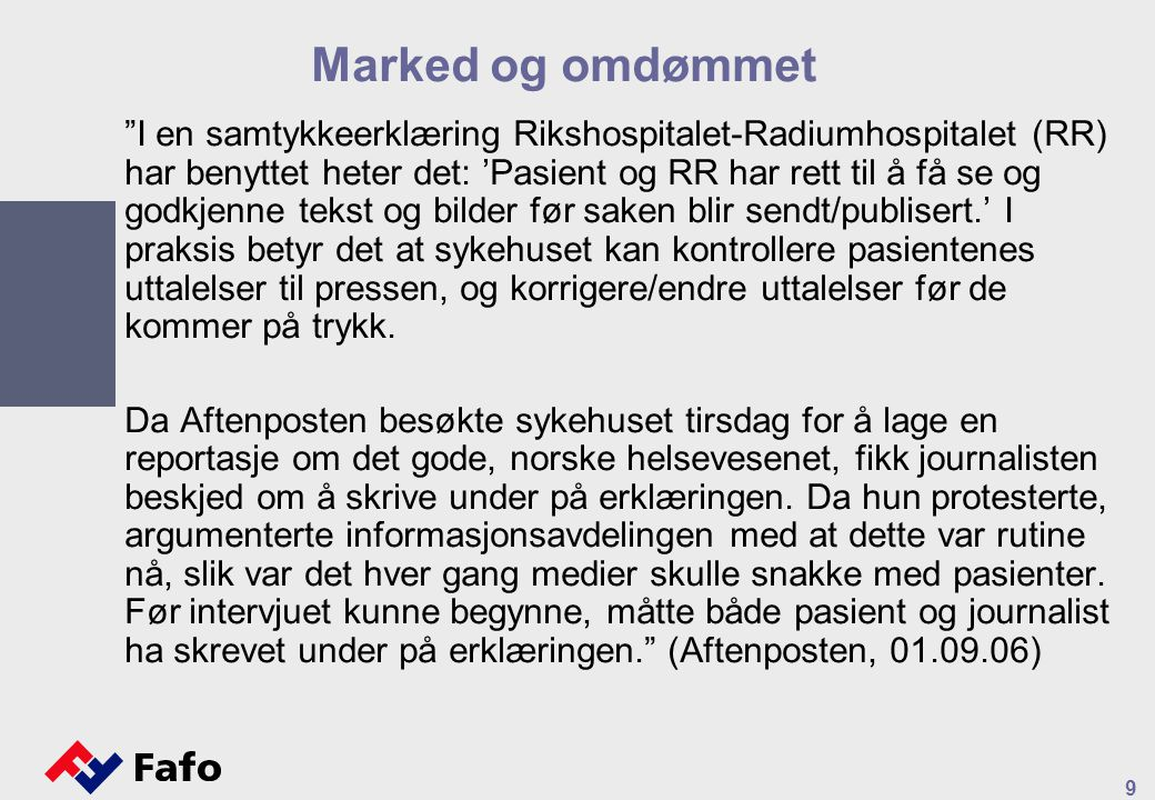 Marked og omdømmet