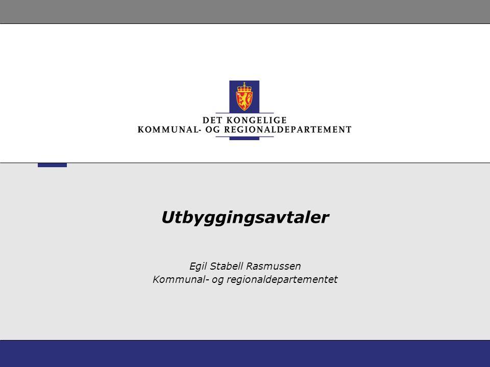 Egil Stabell Rasmussen Kommunal- og regionaldepartementet