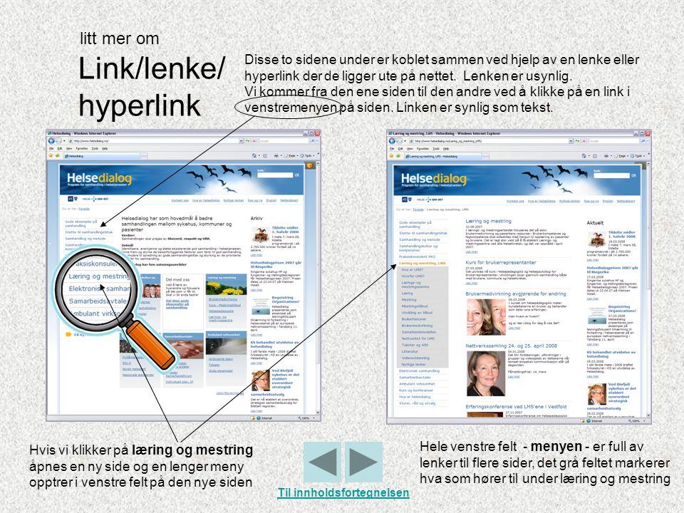 Link/lenke/ hyperlink