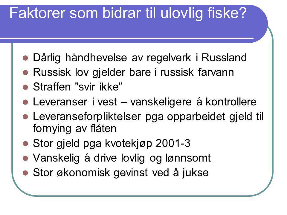 Faktorer som bidrar til ulovlig fiske