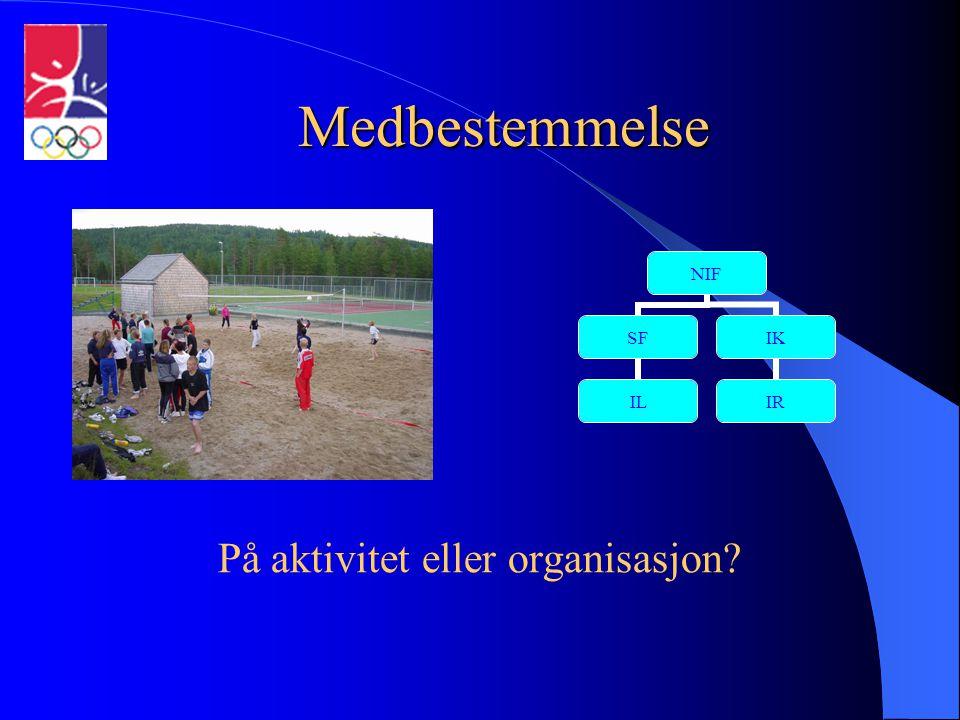 På aktivitet eller organisasjon