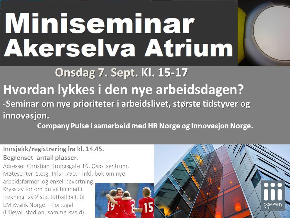 Company Pulse i samarbeid med HR Norge og Innovasjon Norge.
