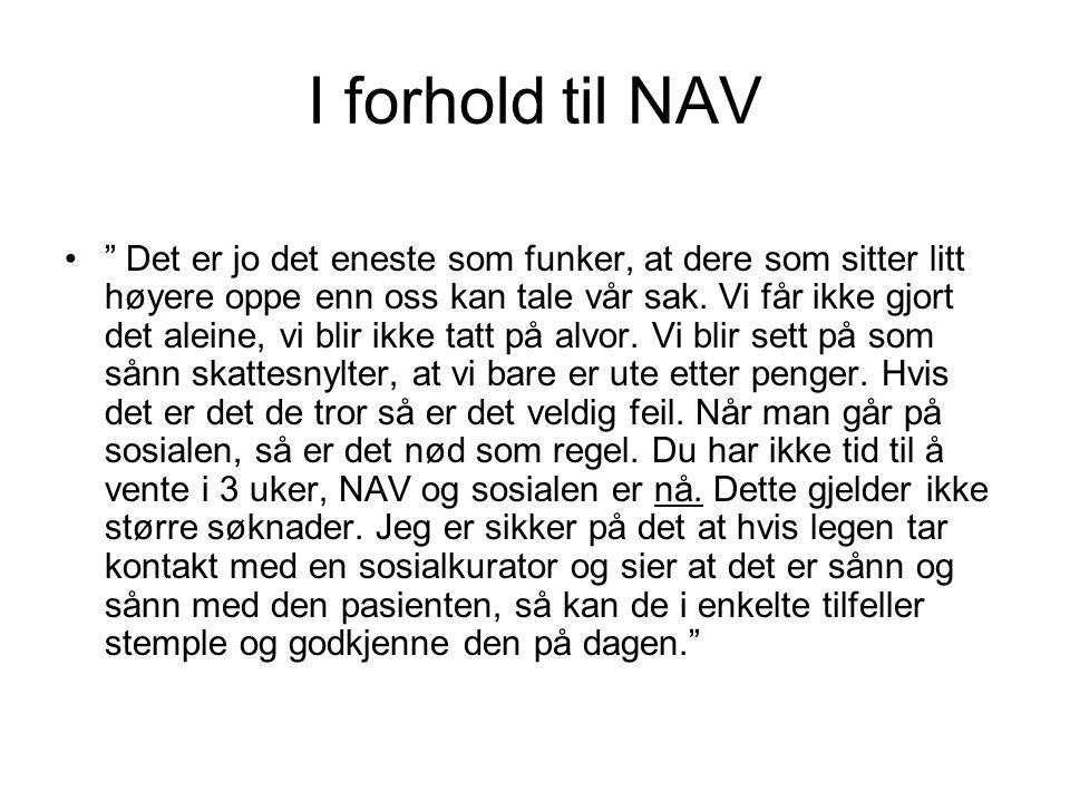 I forhold til NAV