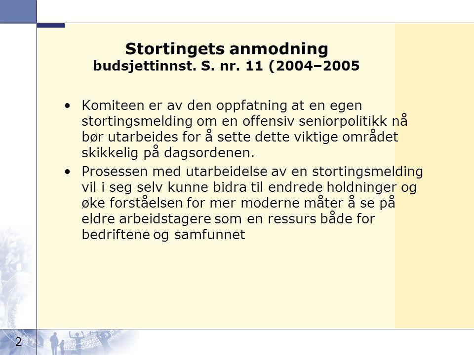 Stortingets anmodning budsjettinnst. S. nr. 11 (2004–2005
