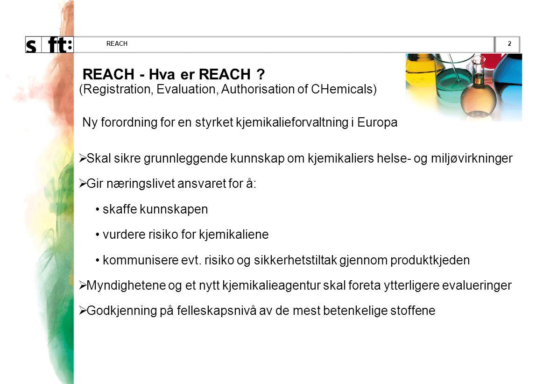 Ny forordning for en styrket kjemikalieforvaltning i Europa
