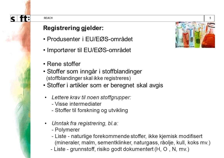Registrering gjelder: Produsenter i EU/EØS-området