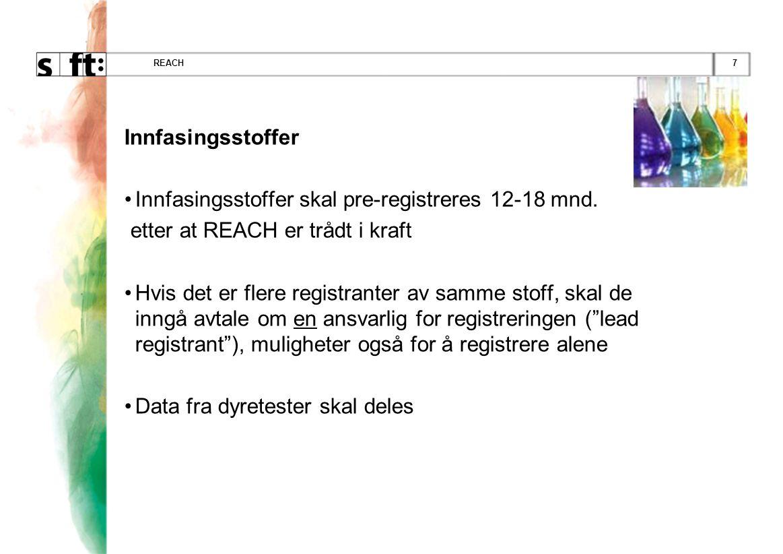 Innfasingsstoffer skal pre-registreres 12-18 mnd.