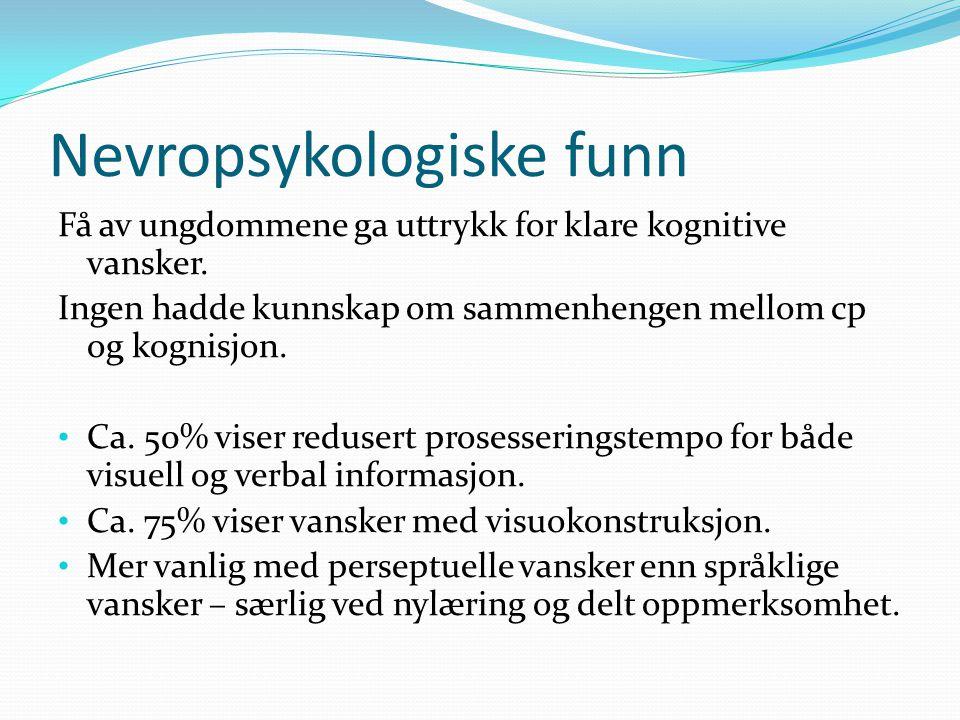 Nevropsykologiske funn