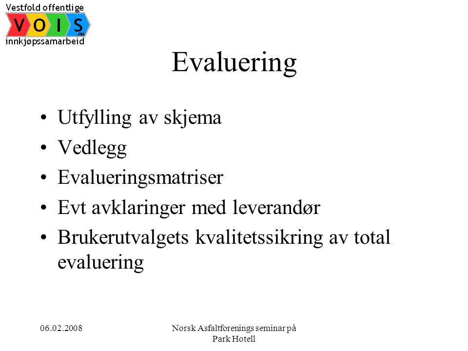 Norsk Asfaltforenings seminar på Park Hotell