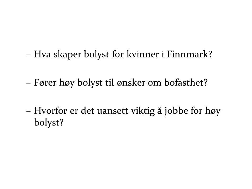 Hva skaper bolyst for kvinner i Finnmark
