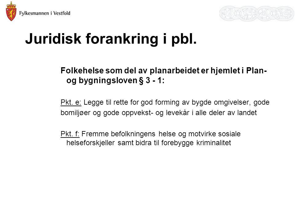 Juridisk forankring i pbl.