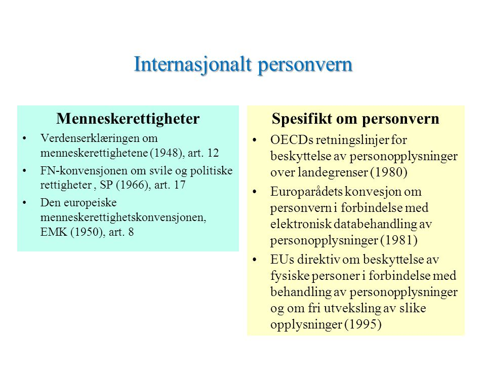 Internasjonalt personvern