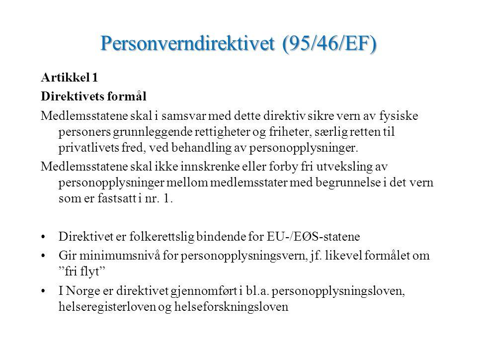 Personverndirektivet (95/46/EF)