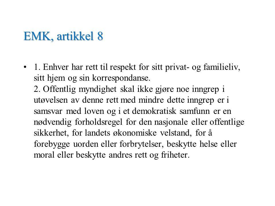 EMK, artikkel 8