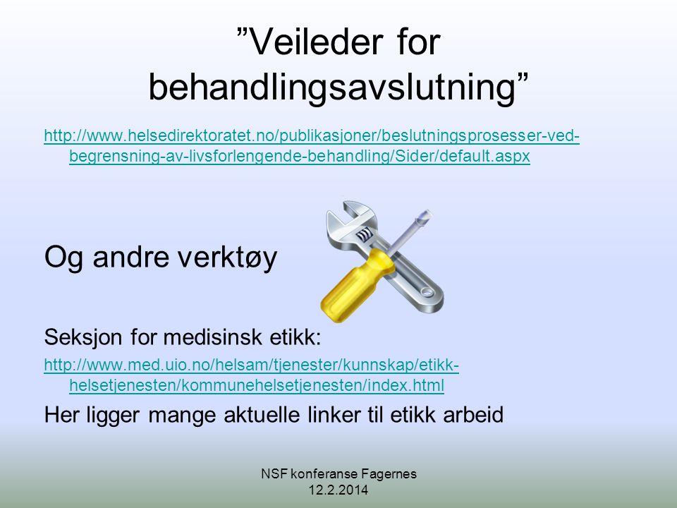Veileder for behandlingsavslutning