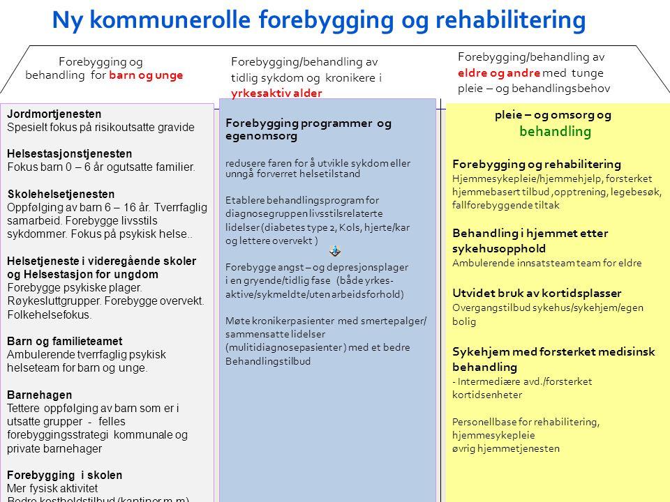 Ny kommunerolle forebygging og rehabilitering