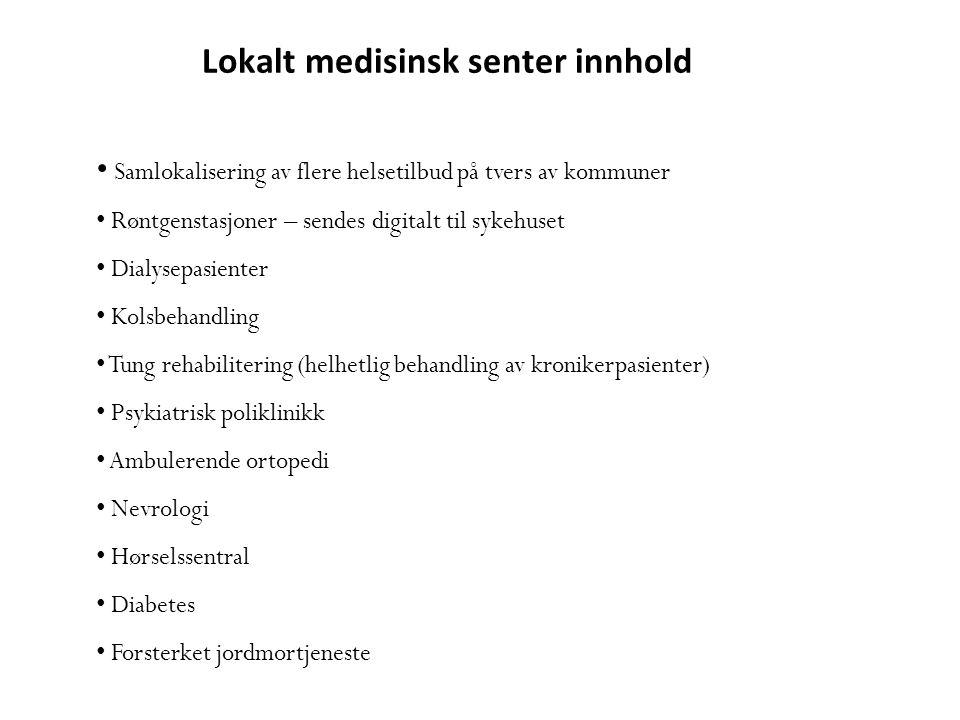 Lokalt medisinsk senter innhold