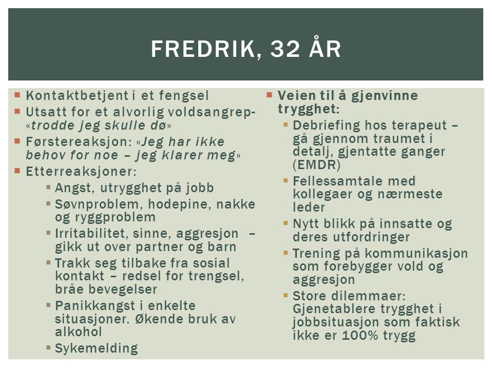Fredrik, 32 år Kontaktbetjent i et fengsel