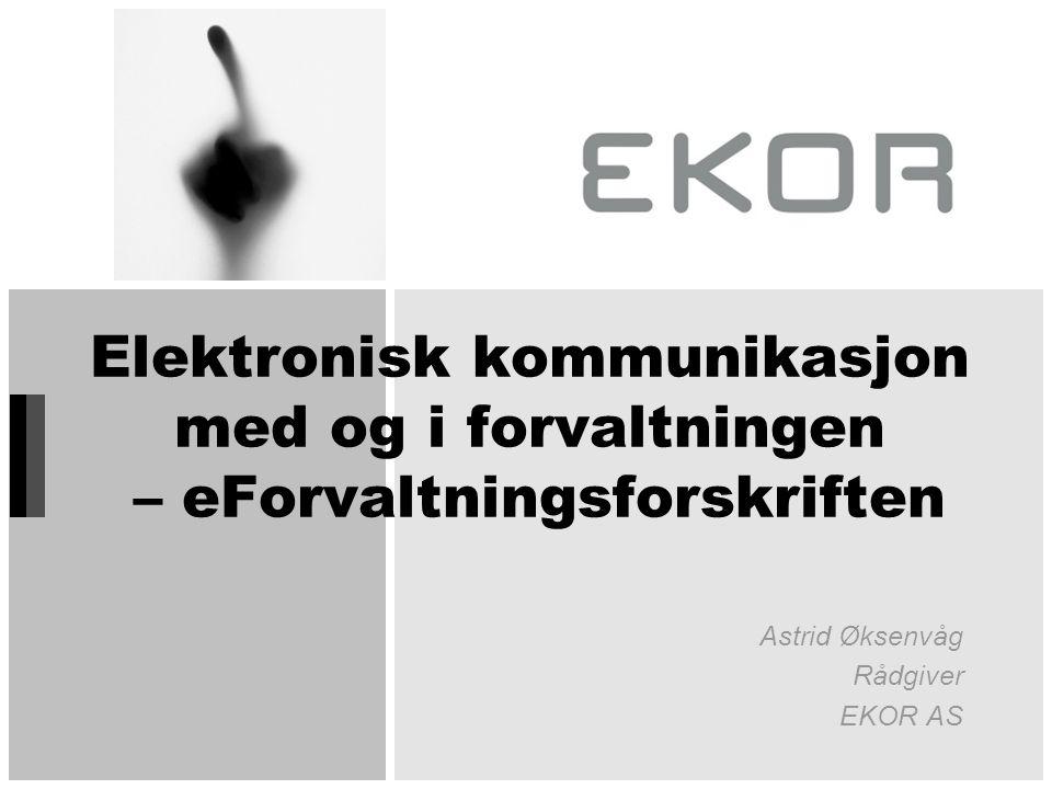 Astrid Øksenvåg Rådgiver EKOR AS