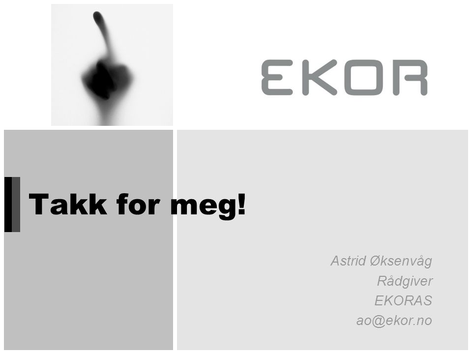 Astrid Øksenvåg Rådgiver EKORAS ao@ekor.no