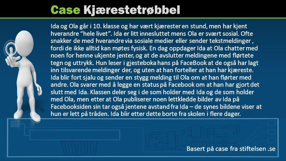 Case Kjærestetrøbbel Basert på case fra stiftelsen .se