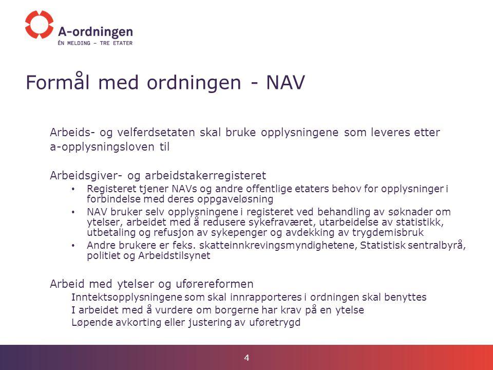 Formål med ordningen - NAV