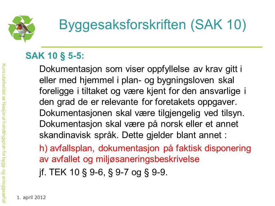 Byggesaksforskriften (SAK 10)