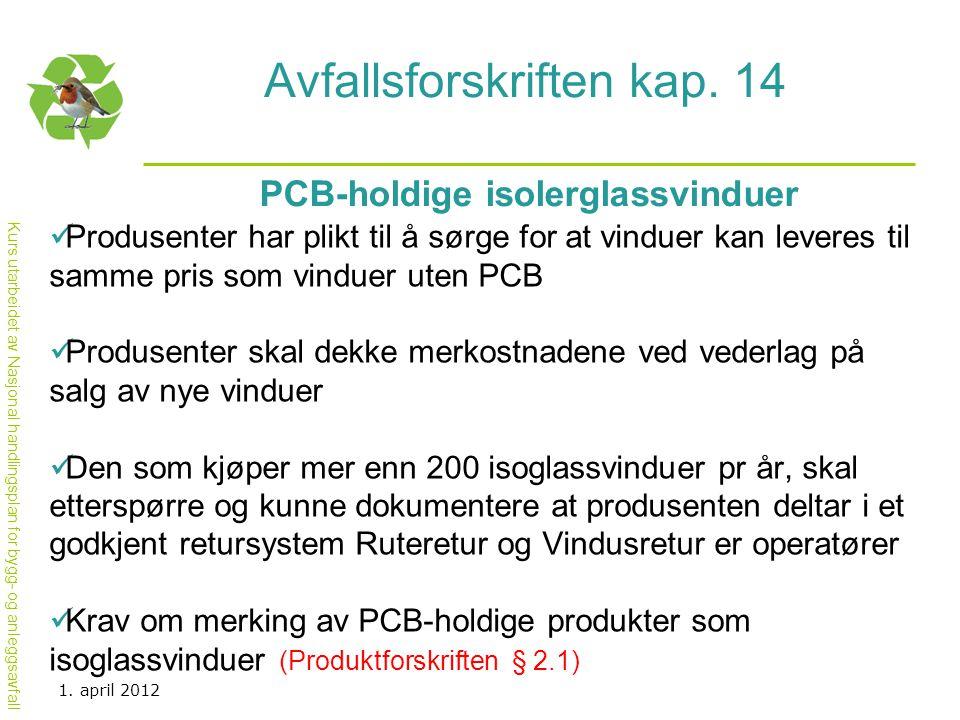 Avfallsforskriften kap. 14