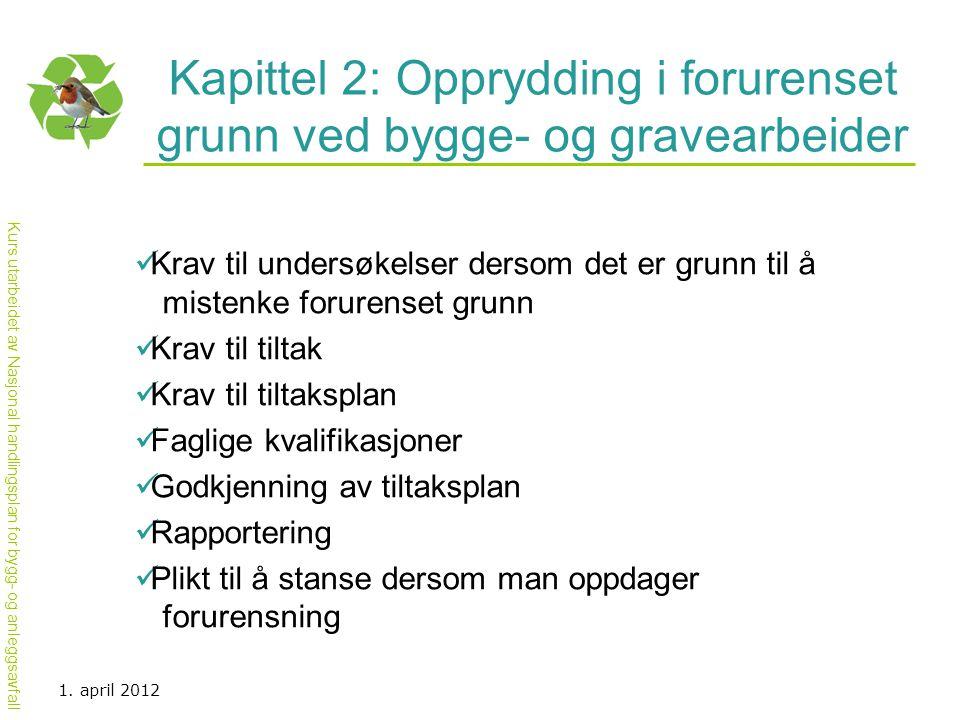 Kapittel 2: Opprydding i forurenset grunn ved bygge- og gravearbeider