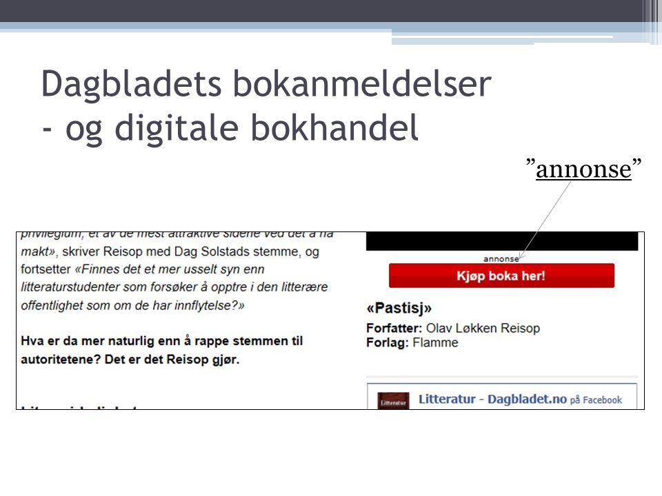 Dagbladets bokanmeldelser - og digitale bokhandel