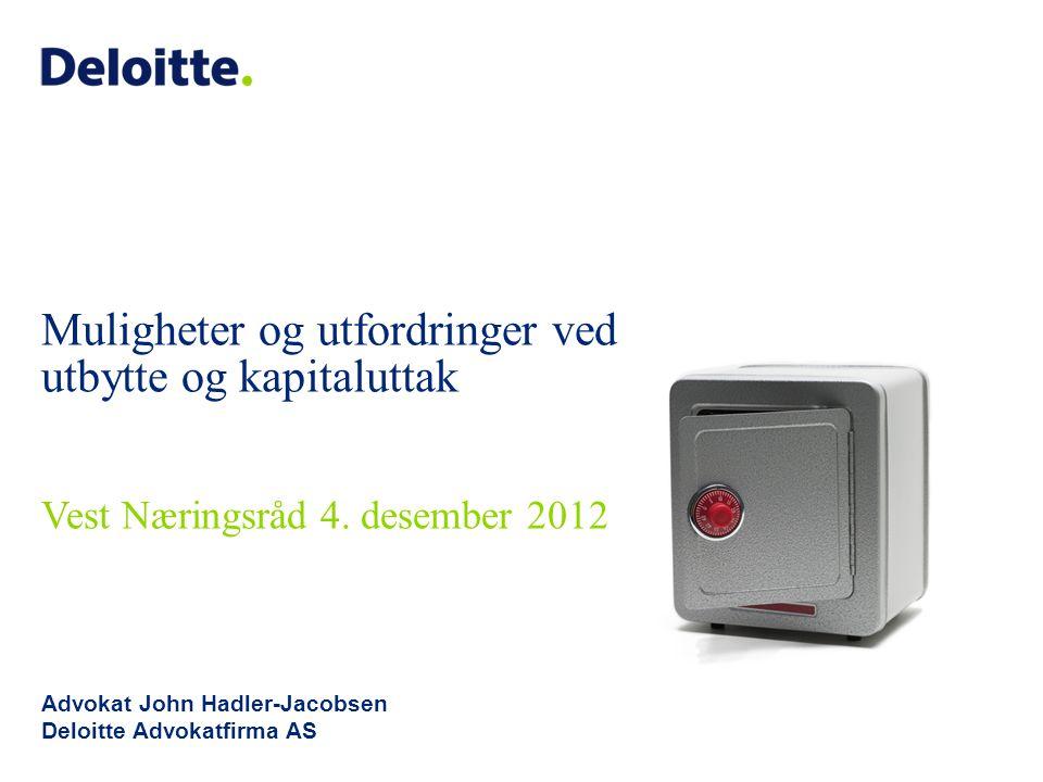 Advokat John Hadler-Jacobsen Deloitte Advokatfirma AS