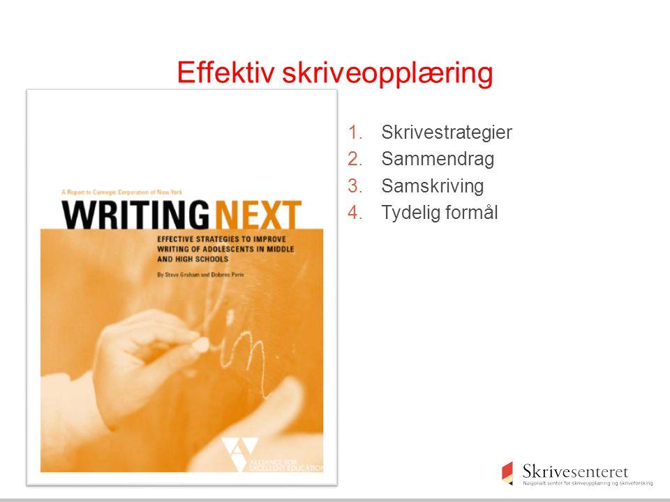 Effektiv skriveopplæring