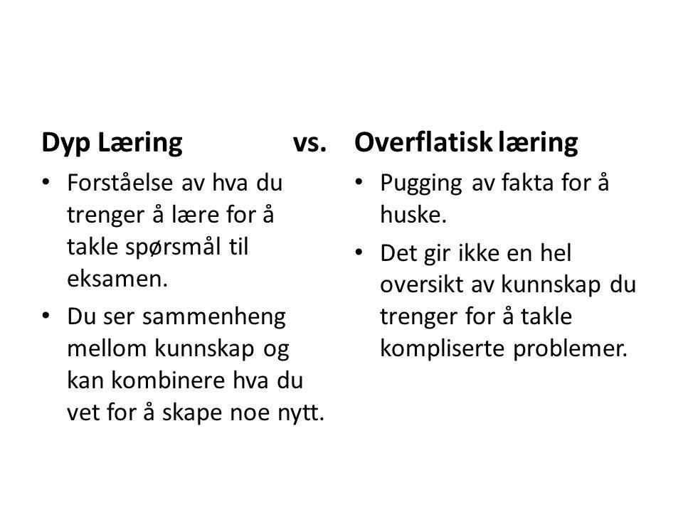 Dyp Læring vs. Overflatisk læring