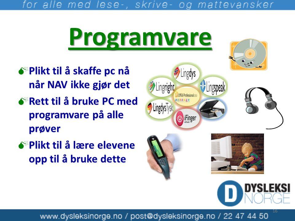 Programvare Plikt til å skaffe pc nå når NAV ikke gjør det