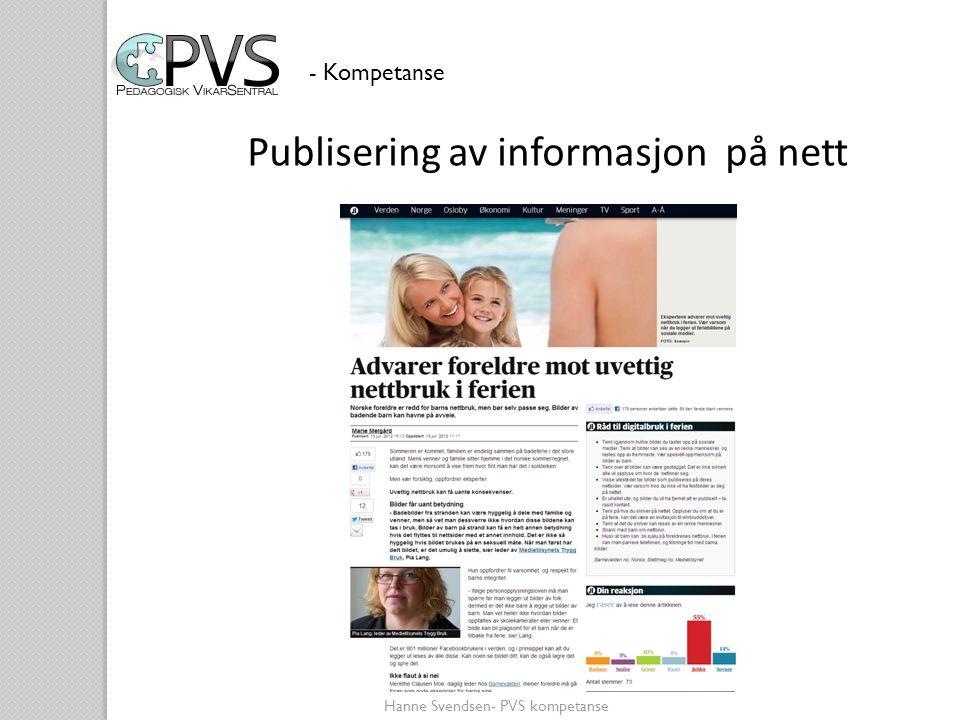 Publisering av informasjon på nett