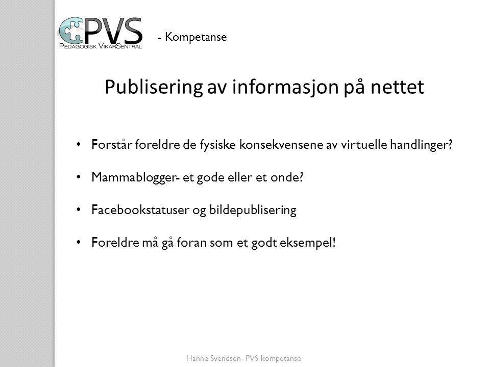 Publisering av informasjon på nettet