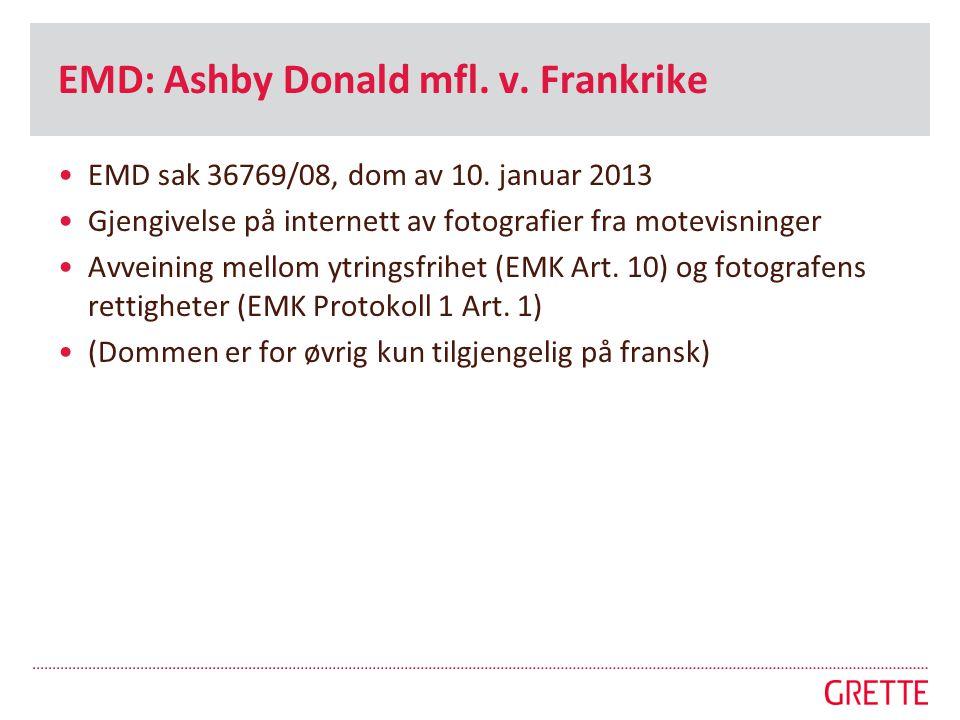 EMD: Ashby Donald mfl. v. Frankrike