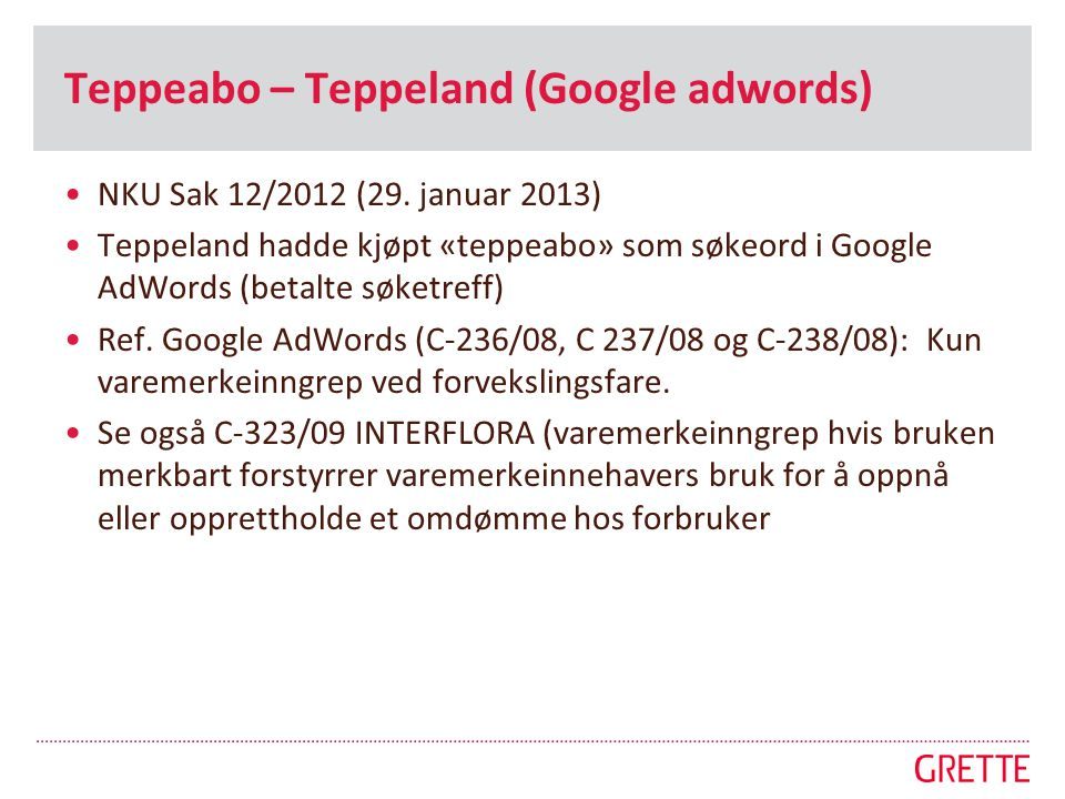 Teppeabo – Teppeland (Google adwords)
