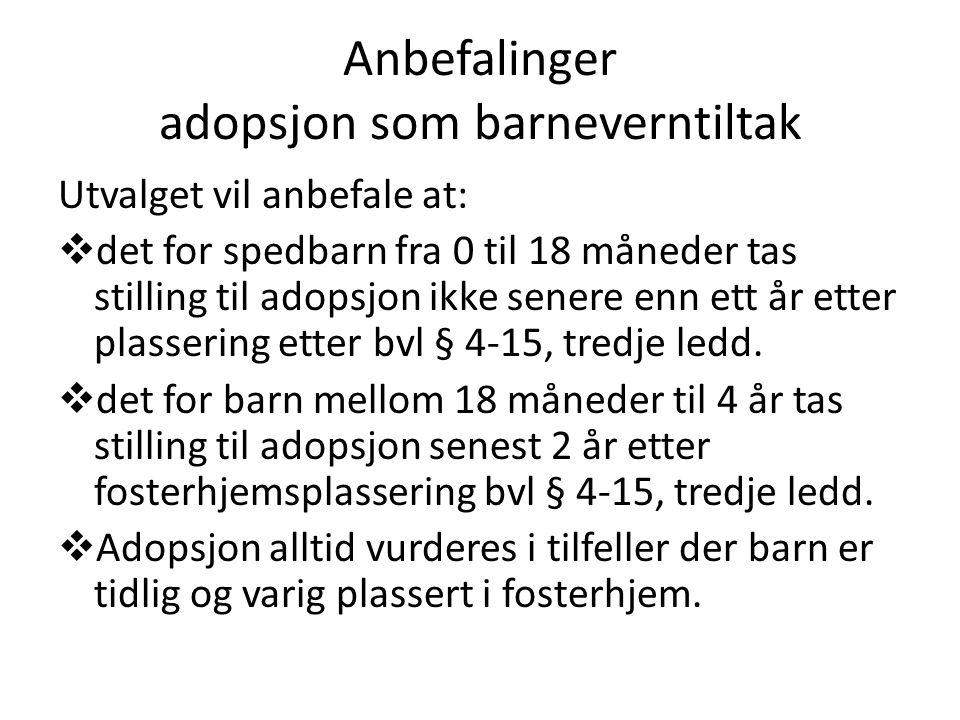 Anbefalinger adopsjon som barneverntiltak