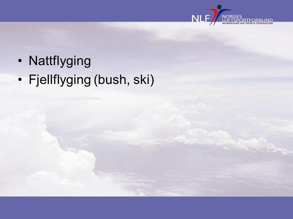 Nattflyging Fjellflyging (bush, ski)