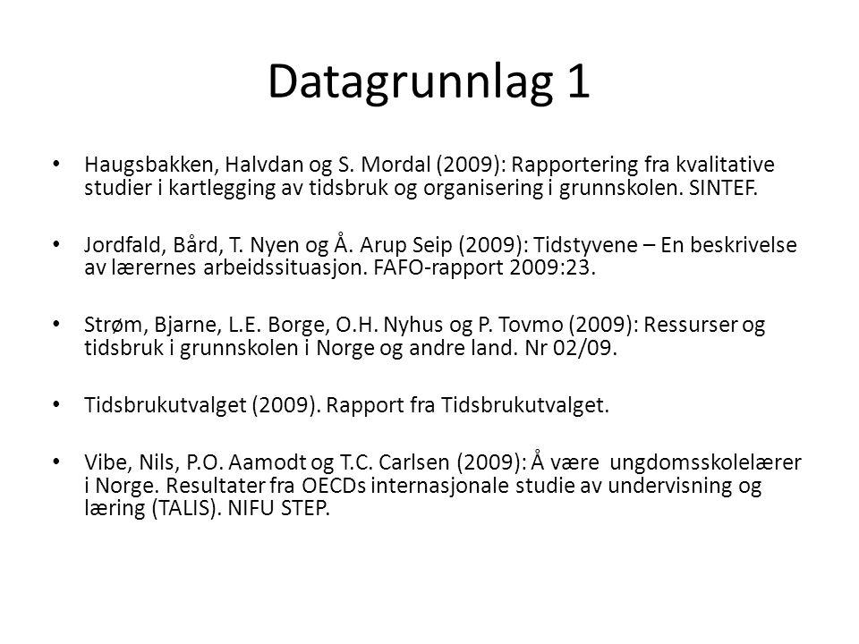 Datagrunnlag 1